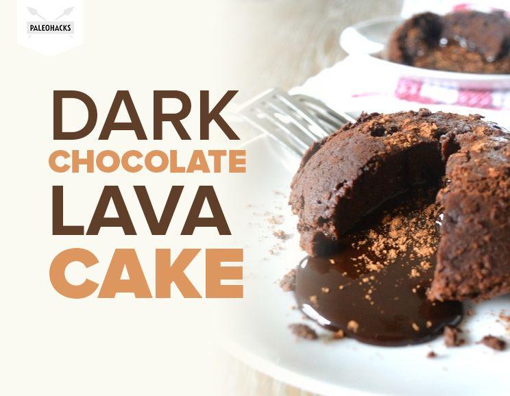 Healthy Dark Chocolate Lava Cake