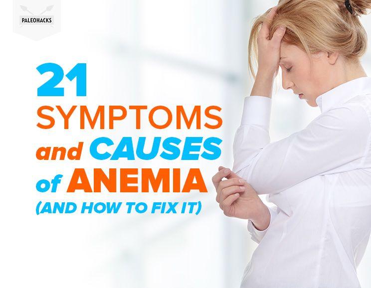 symptom in Adult anemia