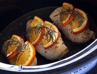 Crock Pot Rosemary Citrus Chicken