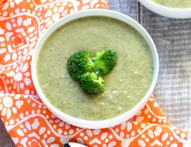 cream of broccoli soup with coconut milk