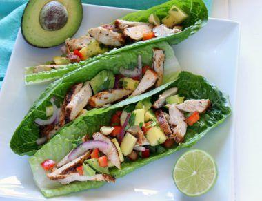 Easy Chicken Mango Lettuce Wraps