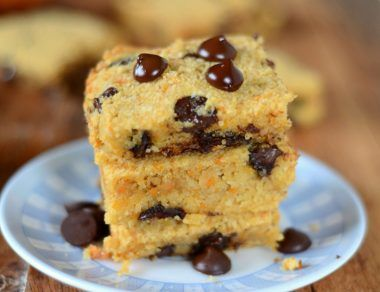Moist and Chocolatey Sweet Potato Blondies