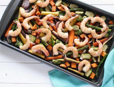 One-Pan Shrimp and Veggie Dinner