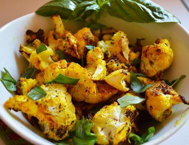 roasted turmeric cauliflower featured image