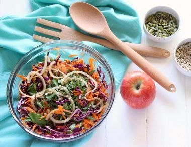 sweet apple basil slaw featured image