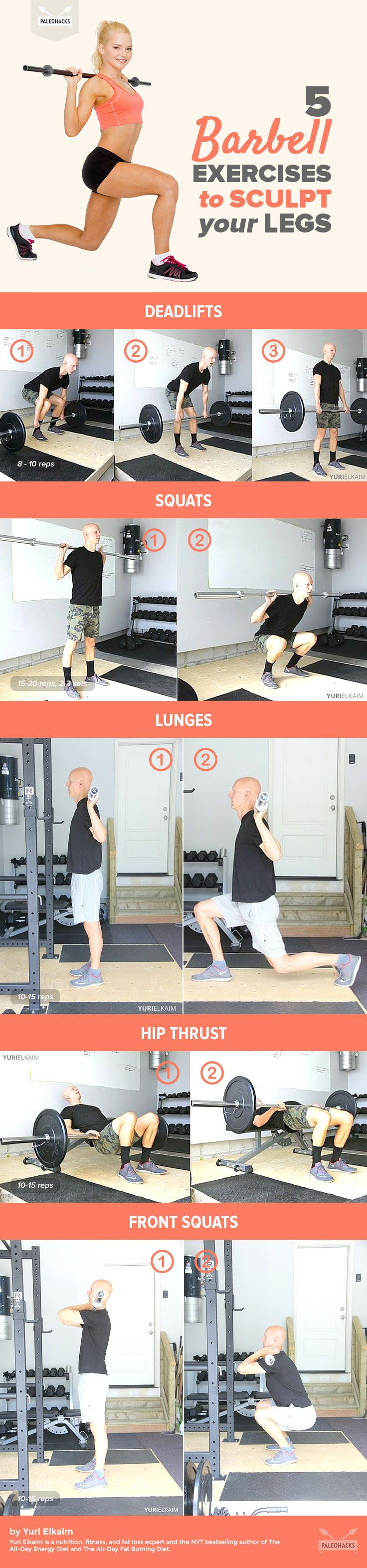 5 Barbell Exercises To Sculpt Your Legs Info