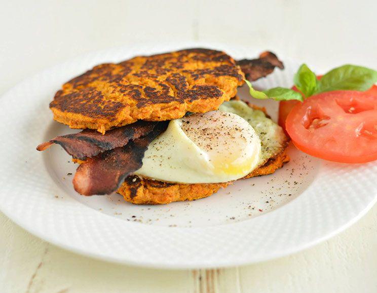 Bacon Egg Pancake Breakfast Sandwiches - Kim's Cravings  |Bacon Pancakes Sandwich