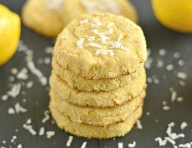 lemon flour cookies featured image