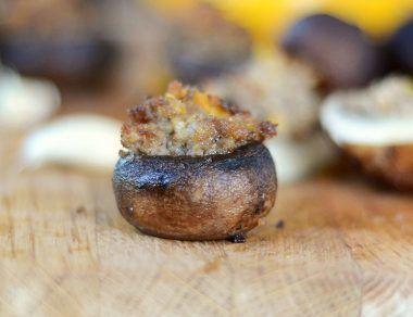 Easy Sausage-Stuffed Mushrooms Recipe