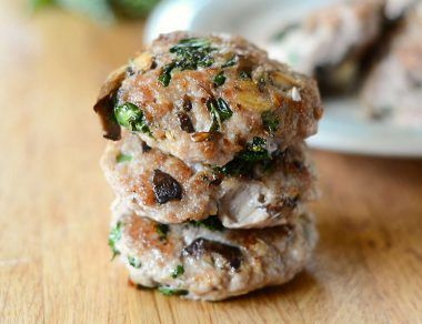 Kale and Mushroom Sausage Patties Recipe
