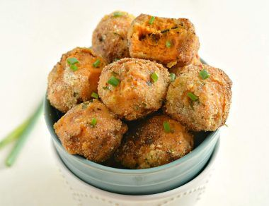 Loaded Mashed Sweet Potato Balls