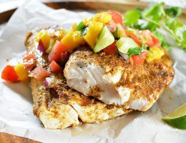 Mahi Mahi with Mango Jalapeño Salsa Recipe