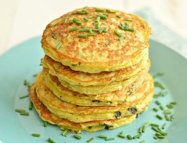 Savory Zucchini Pancakes with Bacon and Chives