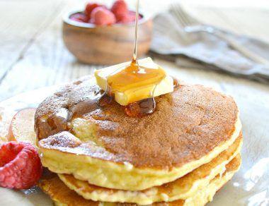 coconut flour pancakes featured image