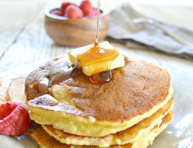 coconut flour pancakes featured image