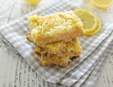 coconut lemon bars featured image