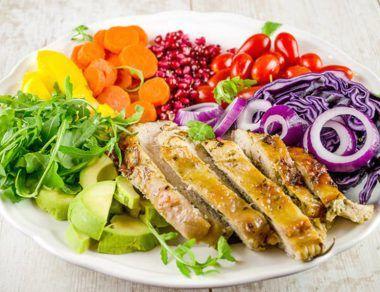 Rainbow Turkey Salad