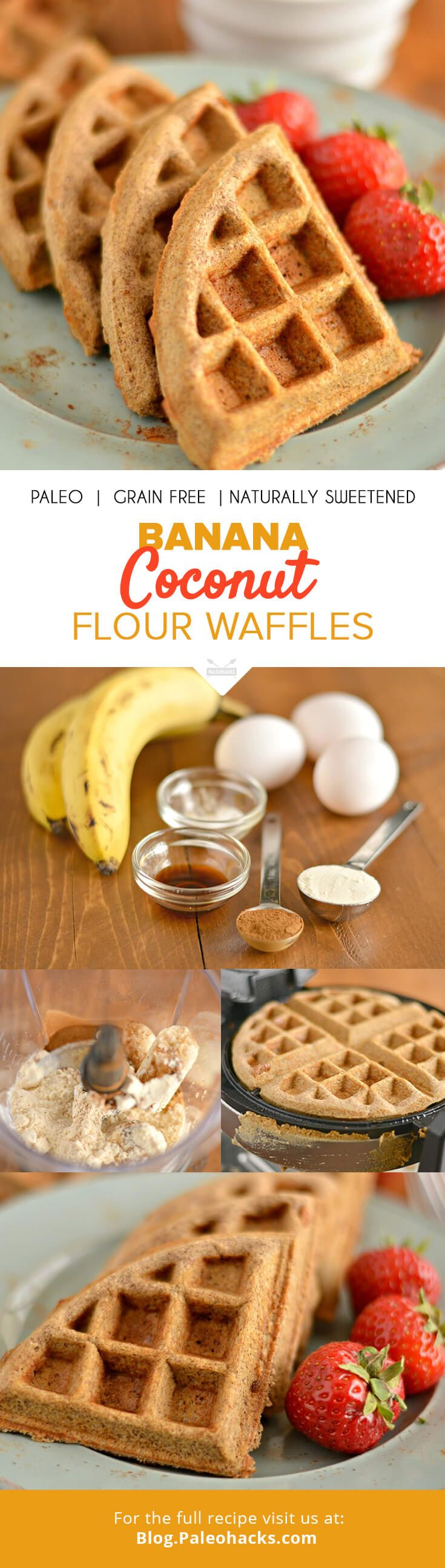 how to make waffles with coconut flour