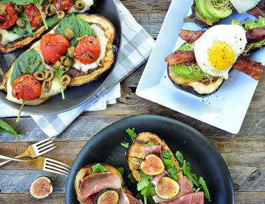 3 Healthy Eggplant Toast Recipes
