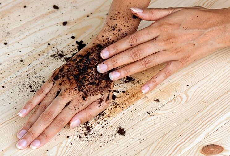 coffee ground for skin