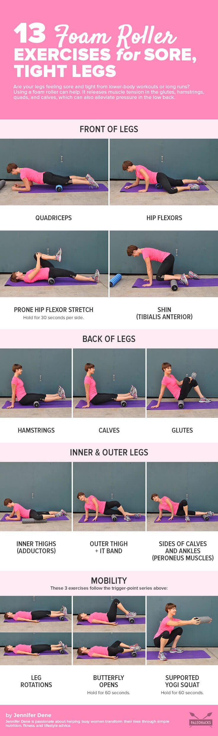 13 Foam Roller Exercises For Sore Tight Legs