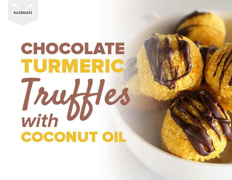 Chocolate Turmeric Truffles with Coconut Oil