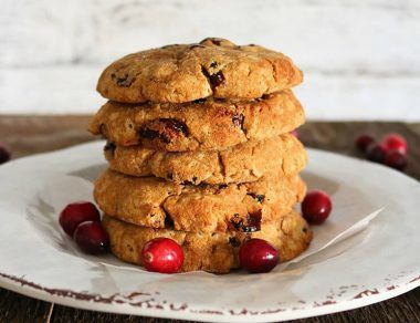 cranberry cookies featured image