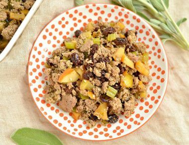 Gluten-Free Apple Sausage Stuffing