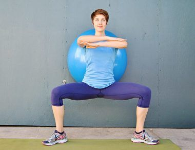 Toned Legs Stability Ball Workout
