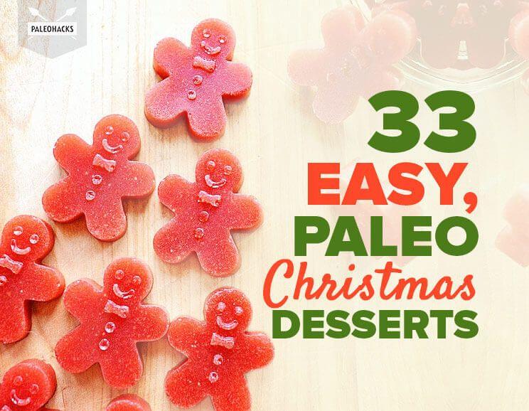 33 easy paleo christmas desserts