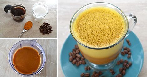 Awakening Coffee With Turmeric Coconut Oil And Coconut Milk