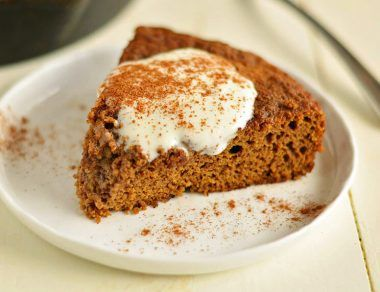 skillet gingerbread cookie featured image