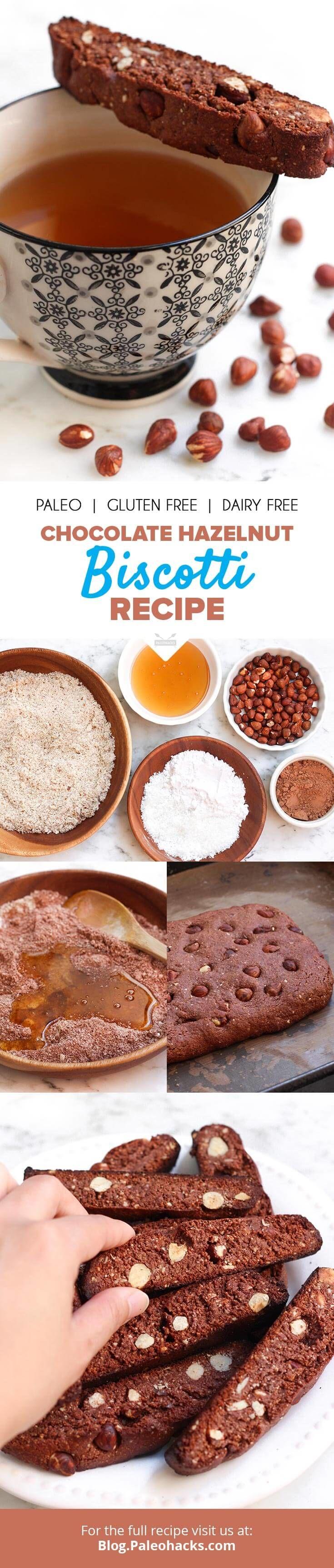Chocolate Hazelnut Biscotti Recipe | Dairy-Free, Grain-Free