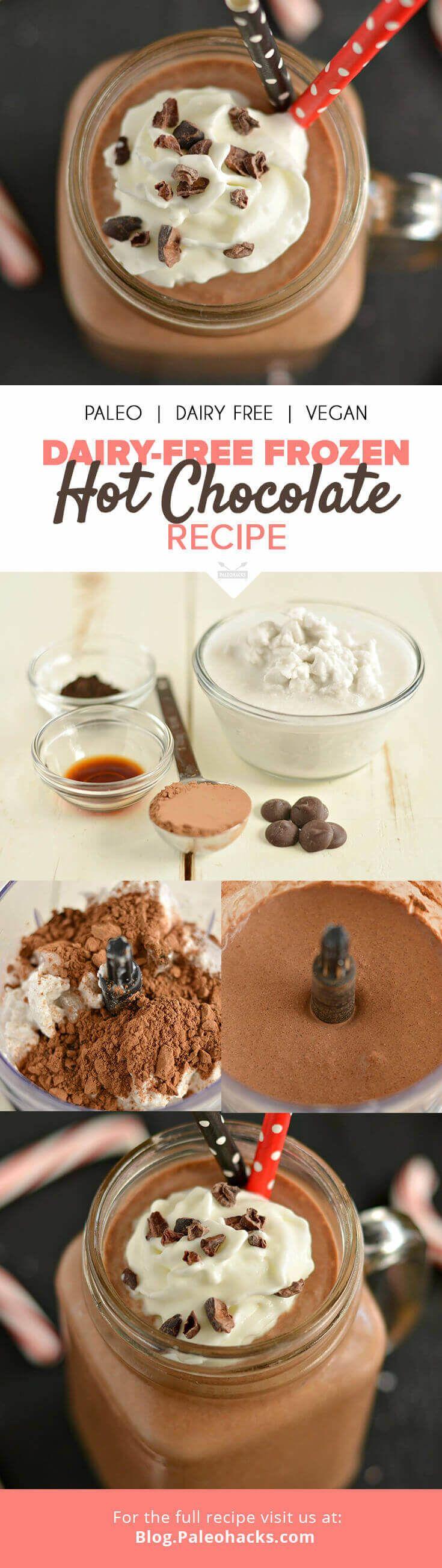Dairy-Free Frozen Hot Chocolate Recipe | Raw, Vegan, Paleo