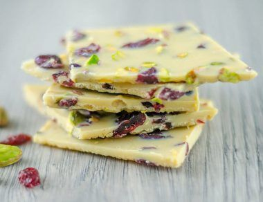white chocolate bark featured image