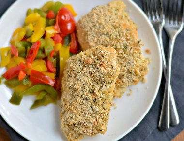 Baked Cod with Hemp Seed Coconut Crust
