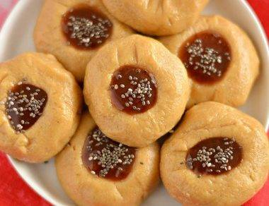No-Bake Thumbprint Cookies with Silky Cashew Butter