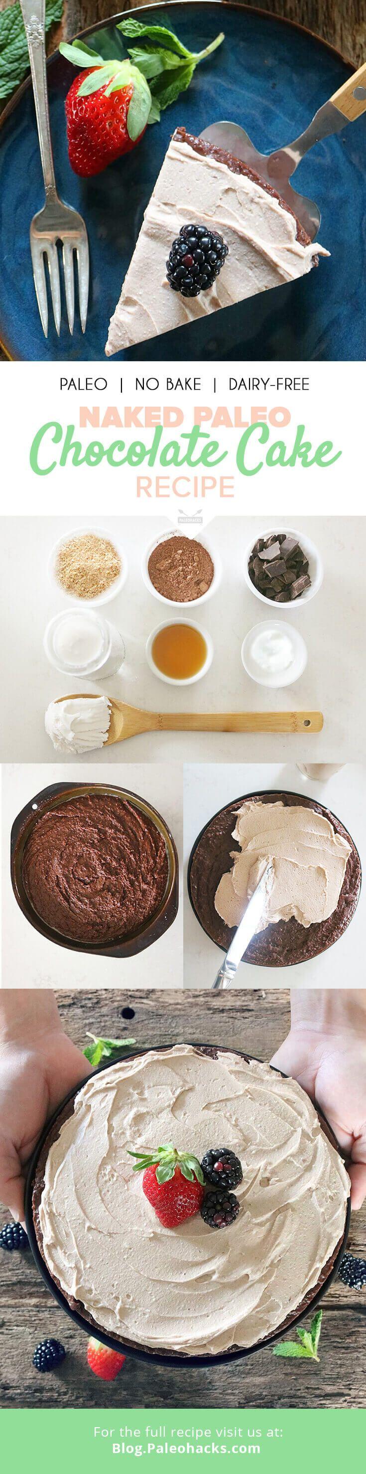 Naked Paleo Chocolate Cake | Egg-Free, No-Bake