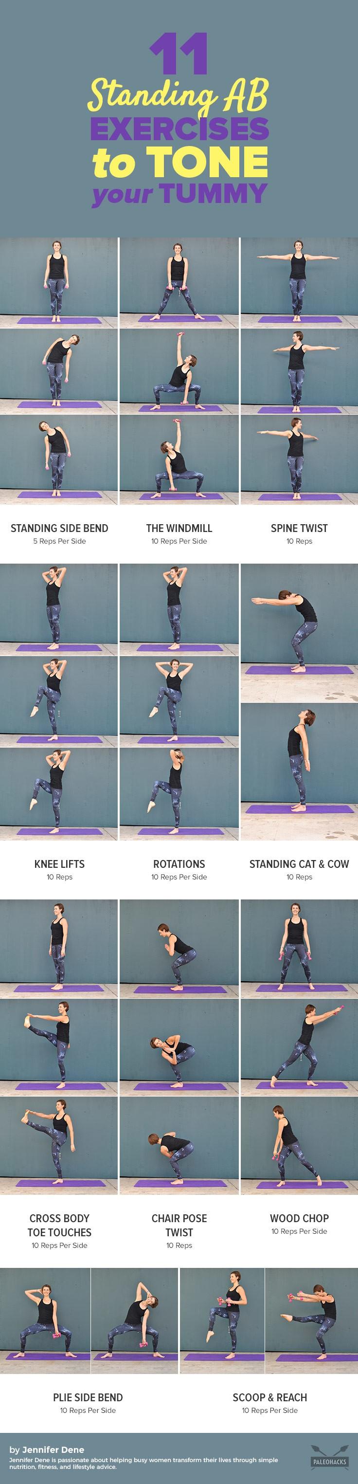 11 Standing Ab Exercises To Tone Your Tummy Paleohacks
