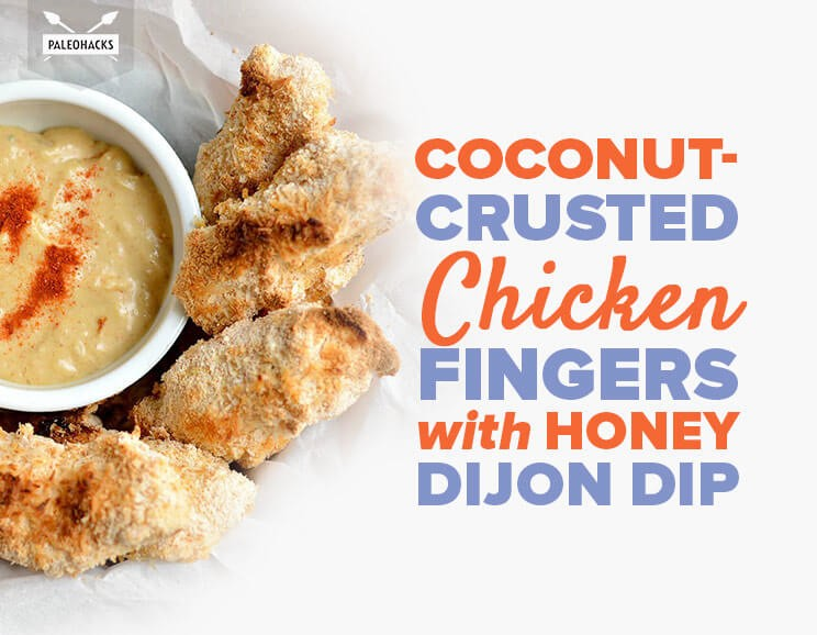 Coconut-Crusted Chicken Fingers with Honey Dijon Dip