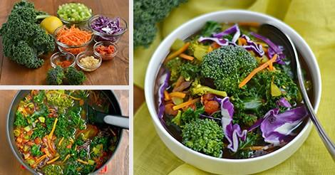 One pot detox vegetable soup recipe vegan paleo gluten free forumfinder Gallery