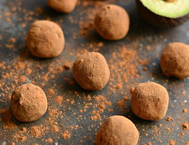 dark chocolate avocado truffles featured image
