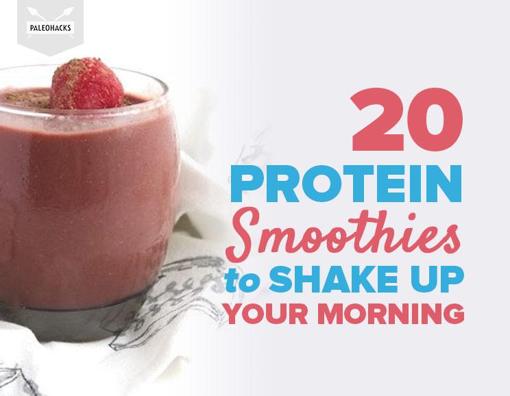 20 paleo protein smoothies to shake up your morning paleohacks blog featured img malvernweather Images