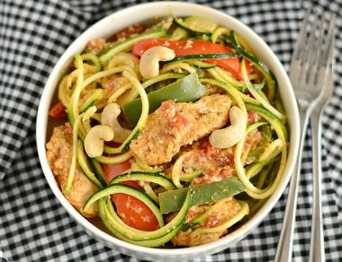 Cajun Chicken Pasta with Light Zucchini Noodles