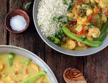Coconut Curry Shrimp with Turmeric