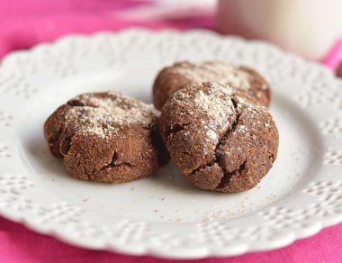 Coconut Flour Chocolate Crinkle Cookies