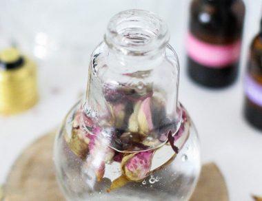 DIY Anti-Aging Hibiscus Rose Facial Serum