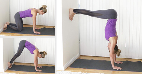9 yoga inversions to help you nail handstand  paleohacks blog