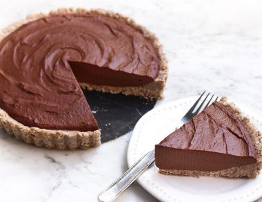 Raw Chocolate Cashew Tart