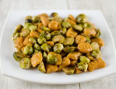 Sweet Potato Gnocchi with Caramelized Brussels Sprouts